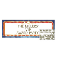 Hollywood Awards Night Personalised Party Banner