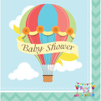 Up Up and Away Baby Shower Lunch Napkins 16 pack