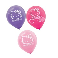 Hello Kitty Party Supplies Balloons 6 Pack