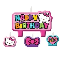 Hello Kitty Party Supplies - Happy Birthday Candle Set