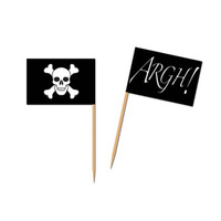 Pirate Flag Food Cupcake Picks 50 Pack
