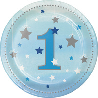 Twinkle Twinkle One Little Star Boy 1st Birthday Lunch Plates 8 pack
