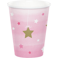 Twinkle Twinkle One Little Star Girl Cups 8 Pack