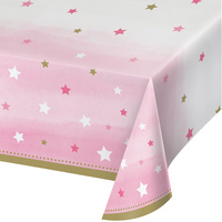 Twinkle Twinkle One Little Star Girl Tablecover