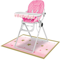 Twinkle Twinkle One Little Star Girl High Chair Kit