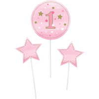 Twinkle Twinkle Little Star Girl Centrepiece Sticks 3 Pack