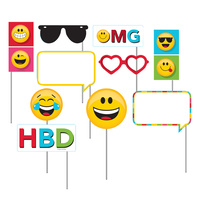 Show Your Emojions Emoji Photo Booth Props 10 Pack