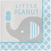 Elephant Boy Little Peanut Lunch Napkin 16 Pack