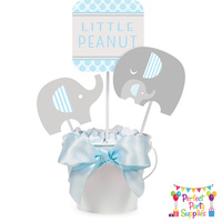 Elephant Boy Little Peanut Centerpiece Sticks