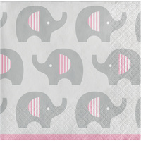 Elephant Girl Little Peanut Beverage Napkins 16 Pack