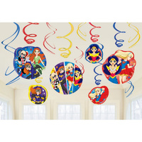 Super Hero Girls Party Supplies -Hanging Swirls