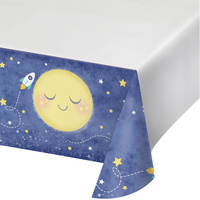 Moon Stars Space Party Supplies -Tablecover