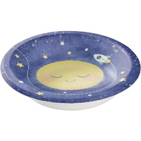 Moon Stars Space Party Supplies - Bowls 8 Pack