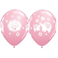 It's a Girl Elephant 28cm Balloon