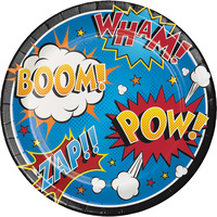 Superhero Slogans Dinner Plates 8 pack