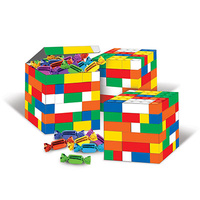 Building Block Party Supplies Favour Boxes 3 Pack