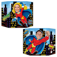 Superhero Party Supplies Photo Prop 2 sided