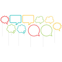 Speech Bubbles Photo Booth Props 10 Pack