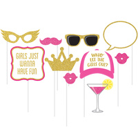 Girls Night Out Photo Booth Props 10 Pack