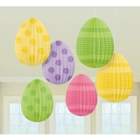 Easter Party Supplies Egg Hanging Pleated Decorations