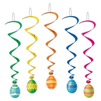 Easter Egg Hanging Whirls 5 pack