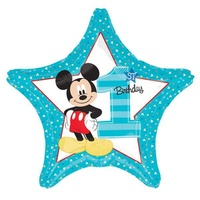 Mickey Mouse 1st Birthday Party Supplies - Star Balloon 45cm