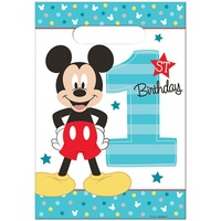 Mickey's 1st Birthday Loot Bags 8 Pack