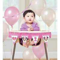 Minnie Mouse 1st Birthday High Chair Decorating Kit