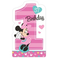 Minnie Mouse 1st Birthday Invitations 8 Pack