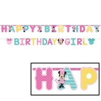 Minnie Mouse Party Supplies - Happy 1st Birthday Banner