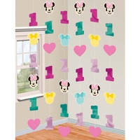 Minnie Mouse 1st Birthday Hanging Strings
