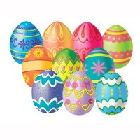 Easter Party Supplies Easter Egg Mini Cutouts 10 Pack