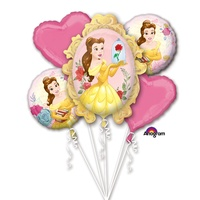 Beauty and the Beast Birthday Bouquet 5 Balloons