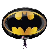 Batman Party Supplies Bat Emblem Oval Supershape Balloon