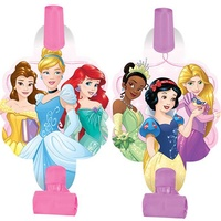 Disney Princess Party Supplies Dream Big Blowouts with Medallions 8 Pack