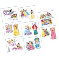 Disney Princess Party Supplies - Dream Big Tattoos 1 Sheet