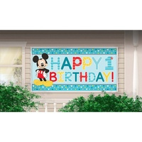 Mickey Mouse Party Supplies 1st Birthday Giant Banner