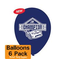 V8 Supercars Party Supplies - Balloons 6 Pack