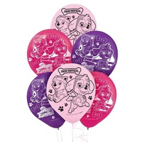 Paw Patrol Girls Party Supplies - Balloons 6 Pack
