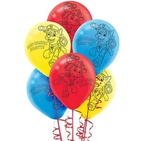 Paw Patrol Party Supplies Balloons 6 Pack Latex