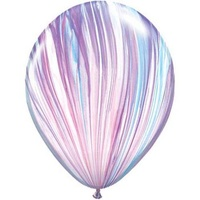 Balloon Party Supplies Marble Pink, Purple Blue Agate Latex Balloon 1 x 28cm