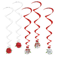 Alice in Wonderland Party Supplies Rose Whirls 5 Pack