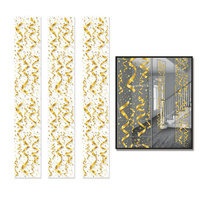 Hollywood Party Supplies - Gold Ribbon Streamers and Stars Panels 3 piece