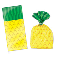Hawaiian Luau Party Supplies Pineapple Loot Bags 25 Pack