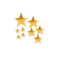 Hollywood Party Supplies Gold Foil Star Cutouts 9 pack
