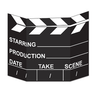 Hollywood Party Supplies - Movie Set Clapboard Photo Prop