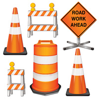 Construction Party Supplies Road Crew Cutouts 6 pack