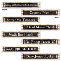 Pirate Party Supplies Sign Cutouts 4 pack