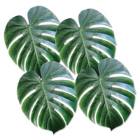 Hawaiian Luau Party Supplies Tropical Palm Leaves 4 pack
