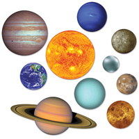 Space Party Supplies Solar System Cutouts 10 pack